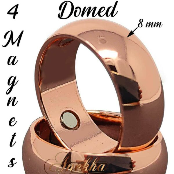8 MM MAX THERAPY PURE SOLID COPPER RING MAGNETIC ARTHRITIS 7-15 MEN WOMEN CX1_1