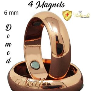 COPPER MAGNETIC RING 8 MM MAX THERAPY PURE & SOLID COPPER ARTHRITIS 7-15 MEN WOMEN CX2