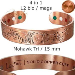 COPPER-MAGNETIC-BANGLE-BRACELET-CHUNKY-SOLID-PURE-COPPER-INDIAN-BIO-MEN-ARTHRITIS-CB55V