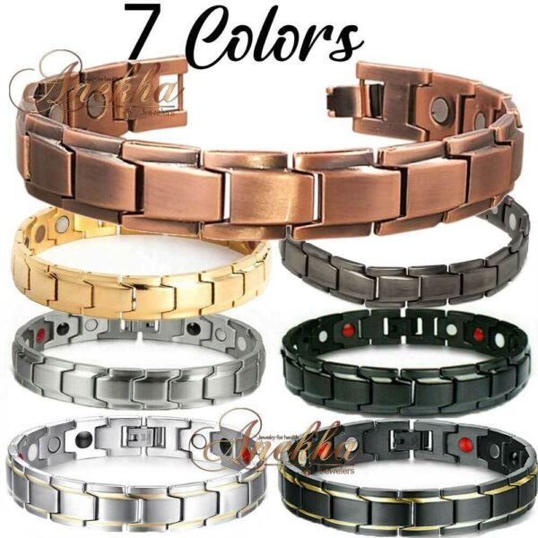 UNISEX COPPER MAGNETIC BRACELET ALLOY BIO THERAPY MEN WOMEN THERAPY PX02
