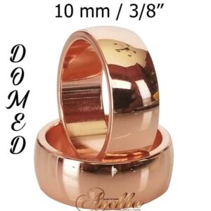 10mm BAND COPPER RING, PURE & SOLID NON MAGNETIC ARTHRITIS 7-15 MEN WOMEN CX3