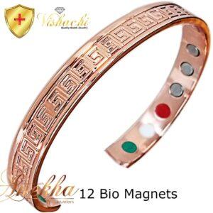 COPPER MAGNETIC BANGLE BRACELET SOLID PURE, 12 BIO WOMEN ARTHRITIS CB21