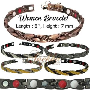 7mm COPPER MAGNETIC BRACELET ALLOY BIO THERAPY MEN WOMEN THERAPY PX05