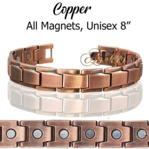 ALLMAGS COPPER MAGNETIC BRACELET ALLOY ARTHRITIS MEN WOMEN ARTHRITIS PX01