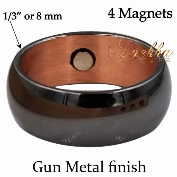 BLACK COPPER MAGNETIC RING, PURE & SOLID 9-10 MEN THERAPY CX05