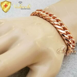 COPPER CHAIN BRACELET NECKLACE PURE & SOLID MEN CUBAN CURB DOUBLE LINK ARTHRITIS PC06C_1