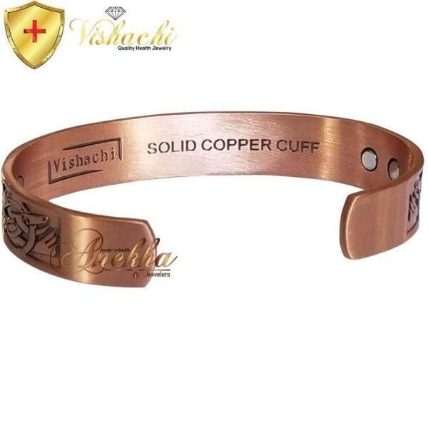COPPER MAGNETIC BANGLE BRACELET, SOLID & PURE, CELTIC VIKING GOD CB29C