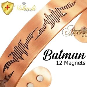 COPPER MAGNETIC BANGLE BRACELET, SOLID & PURE, CHUNKY BATMAN ARTHRITIS CB29