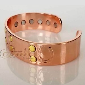 COPPER MAGNETIC BANGLE BRACELET, SOLID & PURE, CHUNKY HORSESHOE ARTHRITIS CB23