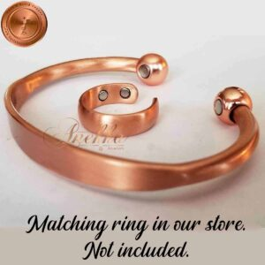COPPER MAGNETIC BANGLE BRACELET, SOLID & PURE, MEN WOMEN ARTHRITIS CB29VB