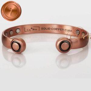 COPPER MAGNETIC BANGLE BRACELET, SOLID PURE, PURE SOLID ARTHRITIS HEADPHONE CB45
