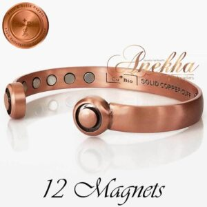 COPPER MAGNETIC BANGLE BRACELET, SOLID PURE, PURE SOLID ARTHRITIS HEADPHONE CB45