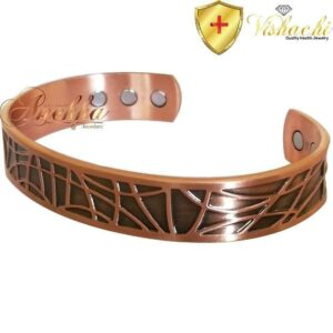 COPPER MAGNETIC BANGLE BRACELET, SOLID & PURE, XCLNT HEAVY VINTAGE MEN CBCB55X