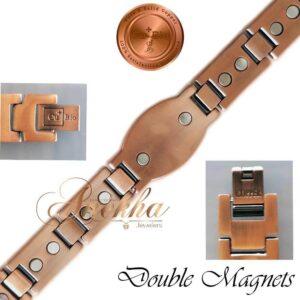 COPPER MAGNETIC BRACELET PURE & SOLID, BIO THERAPY MEN ARTHRITIS VTG PC03V