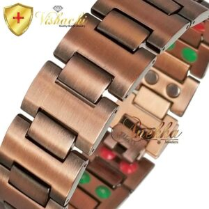COPPER MAGNETIC BRACELET, VISHACHI, PURE & SOLID THERAPY MEN HEAVY ARTHRITIS PC03W