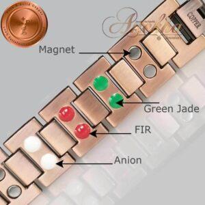COPPER MAGNETIC BRACELET, VISHACHI, PURE & SOLID THERAPY MEN HEAVY ARTHRITIS PC03W