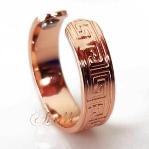GREEK WOMEN MAGNETIC RING, SHINY 4 MAGS SIZE 6-8 ARTHRITIS CX31