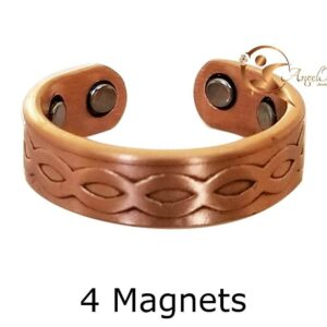 INFINITY COPPER MAGNETIC RING, DOMED 4 MAGS SIZE 7-10 ARTHRITIS CX17