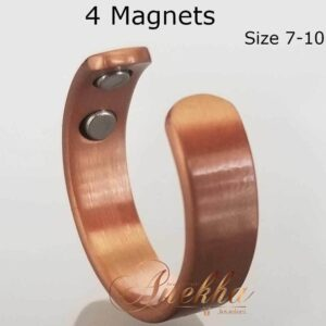 PLAIN VINTAGE COPPER RING, MAGNETIC 4 MAGS SIZE 7-10 ADJUSTABLE THERAPY CX11