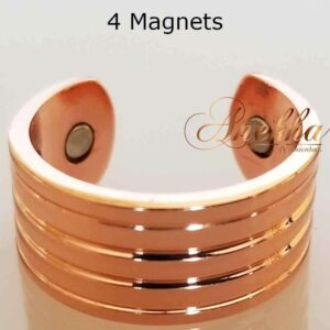 ROMAN COPPER MAGNETIC RING, SHINY 4 MAGS SIZE 7-10 ARTHRITIS CX27