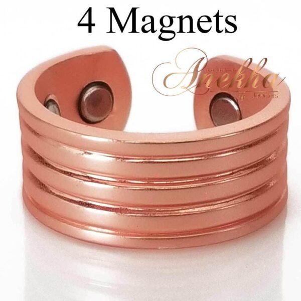 ROMAN MATTE MAGNETIC RING, VINTAGE 4 MAGS SIZE 9-12 ARTHRITIS CX33