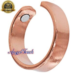 SHINY PLAIN COPPER RING, SHINY DIAMOND CUT SIZE 9-11 ARTHRITIS CX23