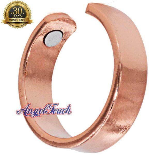 SHINY PLAIN COPPER RING, SHINY DIAMOND CUT SIZE 9-11 ARTHRITIS CX23