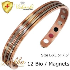 SOLID & PURE COPPER MAGNETIC STAMPED BANGLE BRACELET MEN WOMEN ARTHRITIS CB60