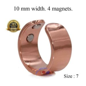 THICK COPPER MAGNETIC RING, VTG 4 MAGS SIZE 6-8 ADJUSTABLE THERAPY CX10