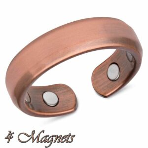 VINTAGE COPPER MAGNETIC RING, DOMED 4 MAGS SIZE 6-8 ARTHRITIS CX16